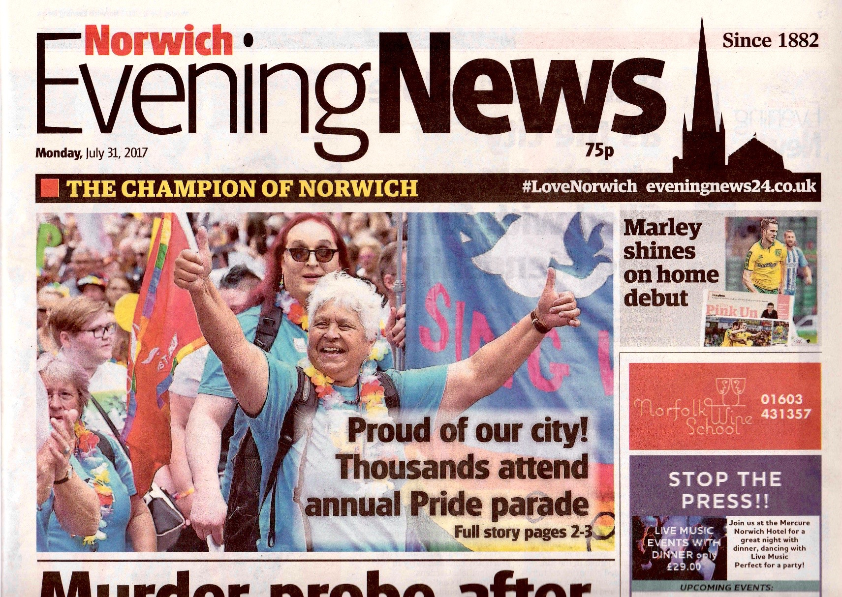 Norwich Pride 2017 Evening News