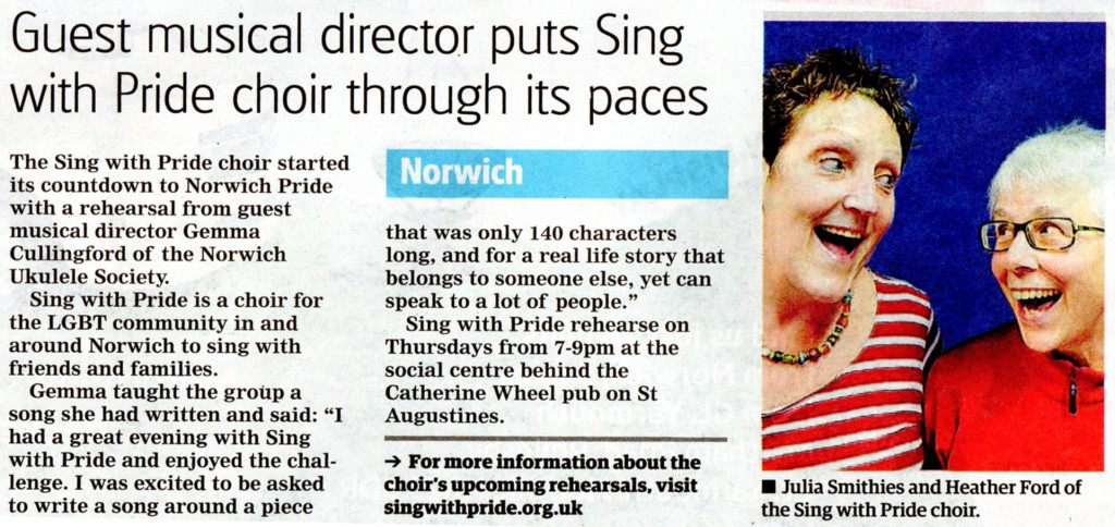 Sing with Pride Gemma Paper