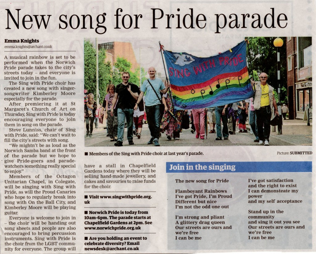 Sing with Pride parade press 2014