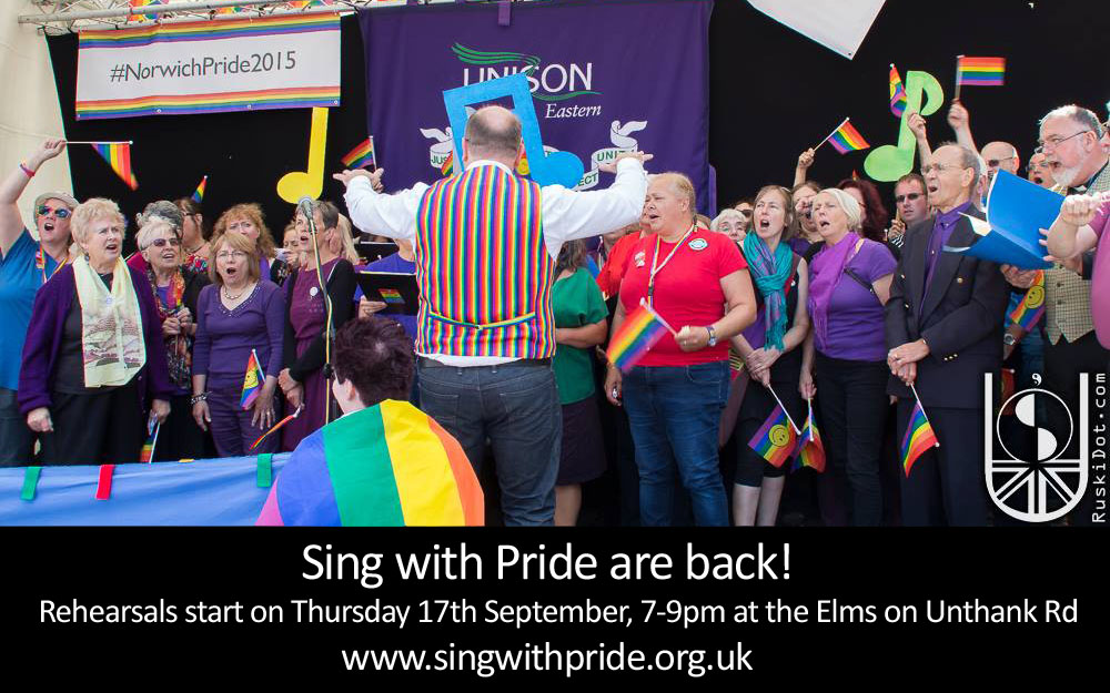 Sing with pride are back poster