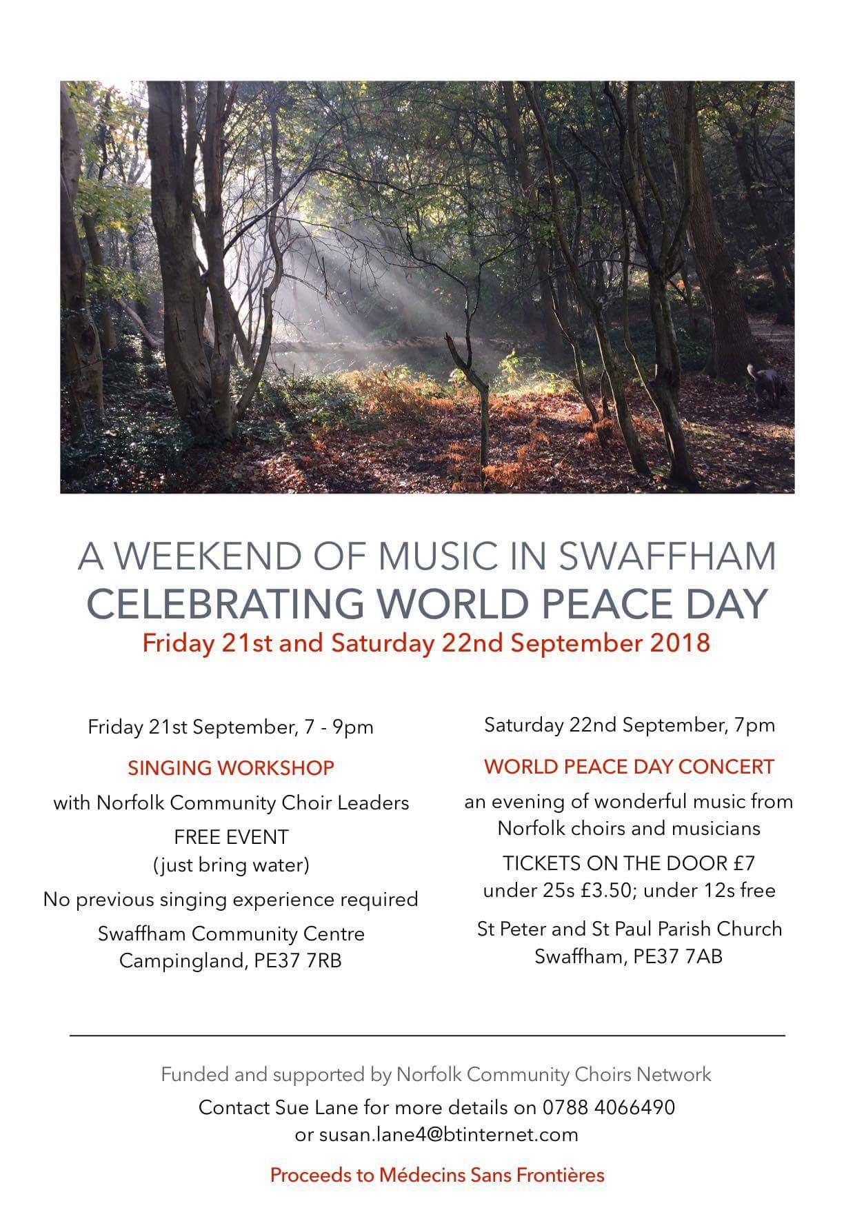 Poster for Peace Day